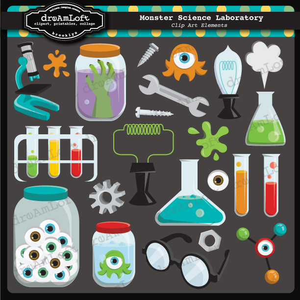 Laboratory Science Lab Clip Art Little Monsters Clip Art Collections ...
